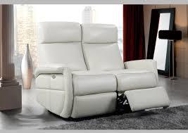 canapé ivoire acheter votre canapé 2 places en cuir ivoire avec relax chez simeuble