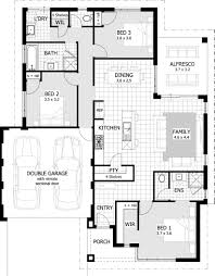 4 Bedroom Single Floor House Plans Four Bedroom House Plans With Double Garage