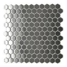 sle backsplashes for kitchens hexagon mosaic mosaic wall tiles backsplash smmt055 stainless steel