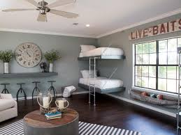 blue grey walls dark wood floors and distinctive furnishings all