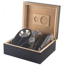 cigar gift set 25 50 cigar black humidor gift set cheap humidors