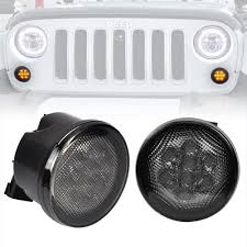 light gray jeep amazon com liteway amber front led turn signal light assembly for