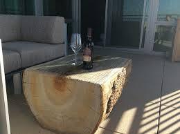 Log Side Table The Most Rustic Peeled Aspen Log Coffee Table Regarding
