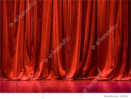 Curtain Red Velvet Stage Curtains Image