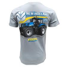 pa farm show monster truck holland grey s s tee with t8 390 tractor on back