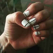 23 white line nail designs 23 pink white nail art designs ideas