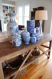 Home Goods Ottoman by Ginger Jars Some Antique Mixed With Vases From Homegoods Add A