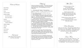 tri fold program funeral program template beautiful butterfly