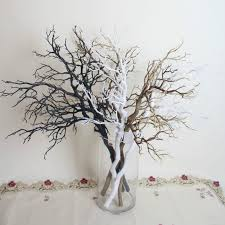 decorative tree branches 10pcs artificial black white tree branches plastic dried tree