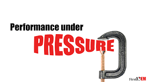performance under pressure u2013 first10em