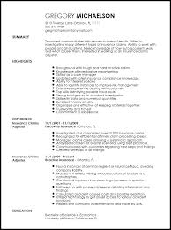 guide to create resume free professional insurance claims adjuster resume template resumenow