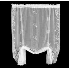 Lace Curtains Heritage Lace Sheer Divine Drape Balloon Shade Bedbathhome Com