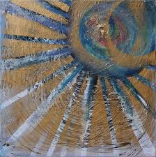 abstract sun painting oil painting acrylic paint on canvas