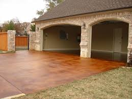 beautiful stained concrete driveway chez huskey the homefront