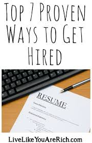 top 7 proven ways to get hired sons people and advice