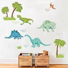 stickers jungle chambre bébé decalmile dessin animé dinosaure jungle stickers muraux amovible