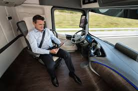 future mercedes interior autonomous mercedes future truck 2025 previews the future of shipping