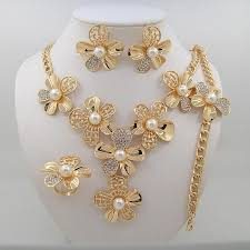 pearl pendant necklace wholesale images 2016 newest women crystal pearl pendant necklace earring jewelry jpg