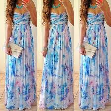 Dresses For A Summer Wedding Women Summer Boho Long Maxi Evening Party Dress Beach Dresses