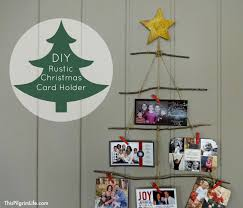 christmas holder diy rustic christmas card holder christmas tour part 1 this