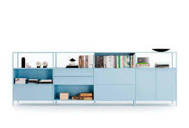 modular bookcase low contemporary commercial kase by sam