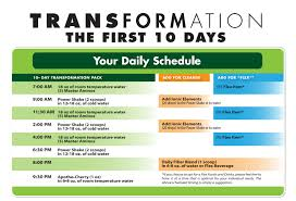 purium transformation flex foods and 10 day transformation daily schedule