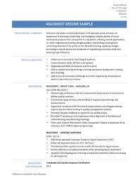 Resume Job Description Samples by Machine Tool Technology Tcat Covington Img Splixioo