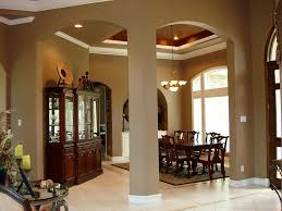 graceful archways and columns set off the formal dining room the
