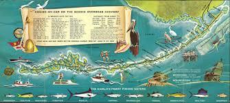 Map Of Keys Retro Style 1960s Tourist Map Of The Florida Keys 2844 1278