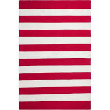 Pink And White Striped Rug Fab Habitat Nantucket Striped Hand Woven Red White Indoor Outdoor