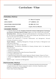 Resume Curriculum Vitae Samples by Resume Vs Curriculum Vitae Resume For Your Job Application