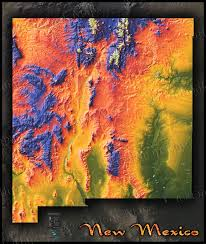 New Mexico Map With Cities And Towns by Topographical New Mexico State Map Colorful Physical Terrain