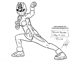 coloring pages power rangers jungle fury eliolera
