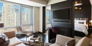 Nyc 2 Bedroom Suite Hotel One Bedroom Suiteking Bed Skyline View Balcony Renaissance New