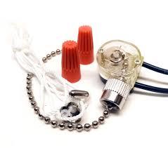 Ceiling Fan Light Pull Chain Switch Zing Ear Ze 109 2 Wire Ceiling Fan Light Pull Chain Switch Nickel