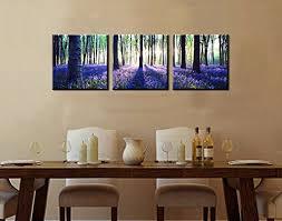 canvas decorations for home canvas wall art 3 panels canvas prints lavender forest sunshine