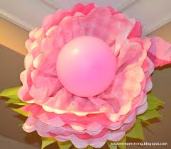 tissue paper flowers with balloon center just one mom trying