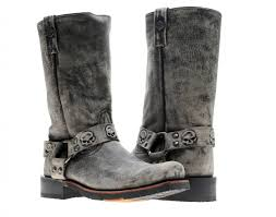 harley davidson motorcycle boots harley davidson rory harness slate men u0027s boot d93145 sneakers4u com