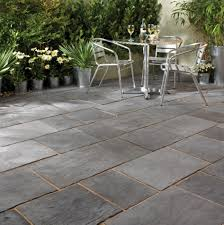 Slate Patio Designs Enthralling Slate Pavers For Patio On Running Bond Tile Pattern
