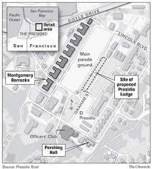 Presidio San Francisco Map by San Francisco Much At Stake In Presidio Lodge Plans 3