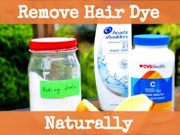 how to naturally remove hair dye with baking soda vitamin c and