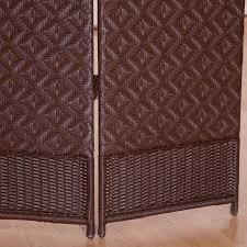 Wicker Room Divider Outdoor Indoor Woven Resin 4 Panel Room Divider Hayneedle