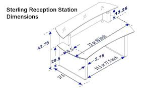 reception desk height standard what is standard desk height standard desk size full size of home