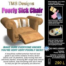 Medical Armchair Second Life Marketplace Poorly Sick Armchair U0026 Poorly Sick