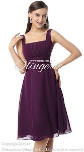 2017 vintage purple a line straps square neckline empire knee