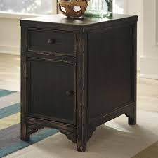 Chair Side Tables With Storage Signature Design By Baker T732 7 Distressed Chair Side End