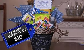 Teacher Gift Basket Diy Gift Ideas To Impress Your Child U0027s Teacher On The First Day Of
