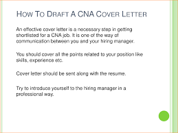 Cna Resume Cover Letter Examples Cover Letter Cna