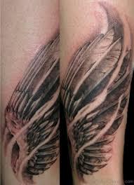 26 cool wings tattoos on leg