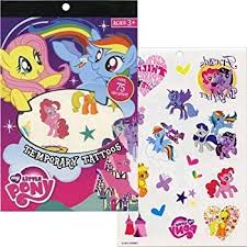 amazon com my little pony temporary tattoos 75pc toys u0026 games
